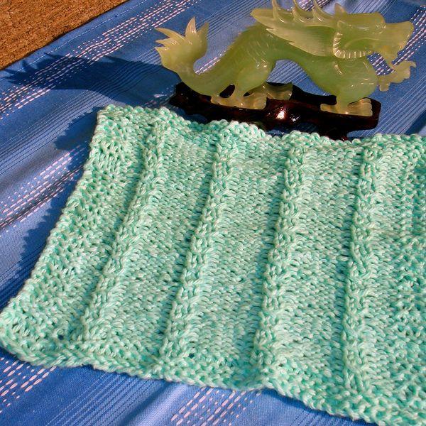 Mariannes Motifs Loom Knit Mock Cable Dishcloth Pattern